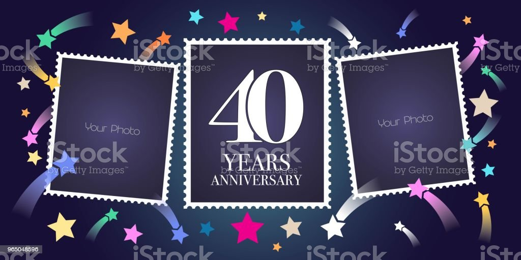 40 years anniversary vector emblem royalty-free 40 years anniversary vector emblem stock vector art & more images of anniversary