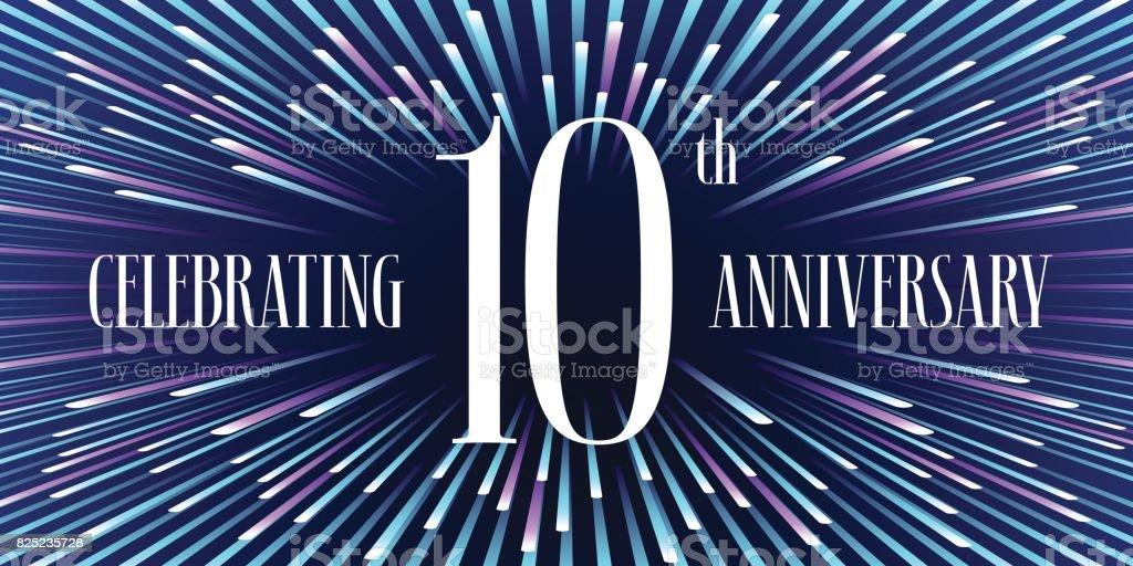 10 years anniversary vector icon, banner vector art illustration