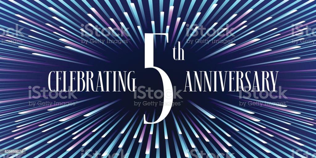 5 years anniversary vector icon, banner vector art illustration