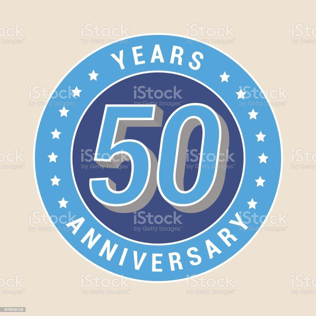 50 years anniversary vector icon, emblem vector art illustration