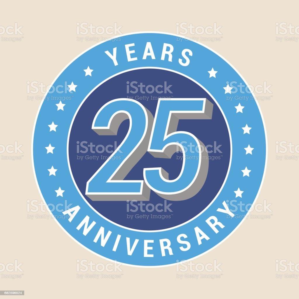 25 Jahre Jubiläum Vektor Icon, emblem – Vektorgrafik