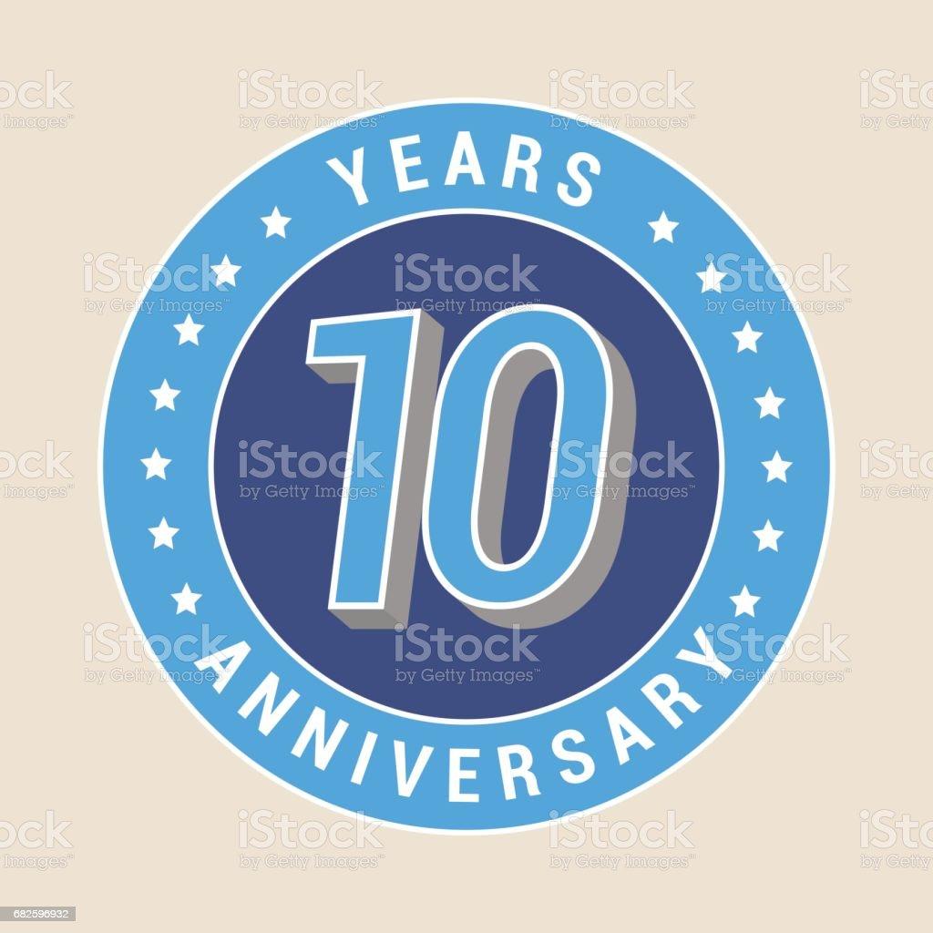 10 years anniversary vector icon, emblem vector art illustration