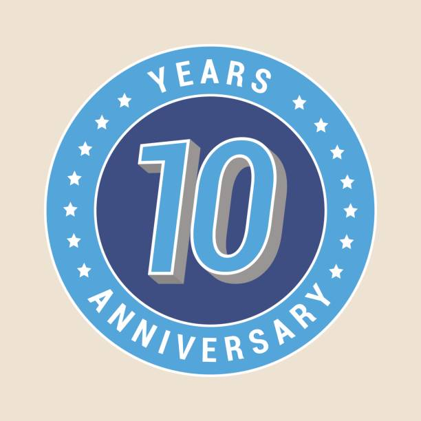 Best 10th Anniversary Illustrations, Royalty-Free Vector