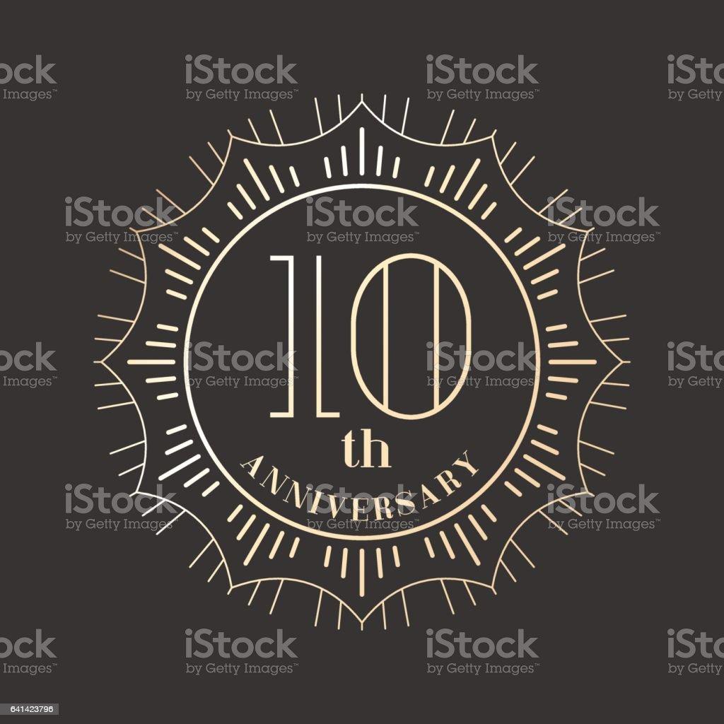 10 years anniversary vector icon, logo vector art illustration