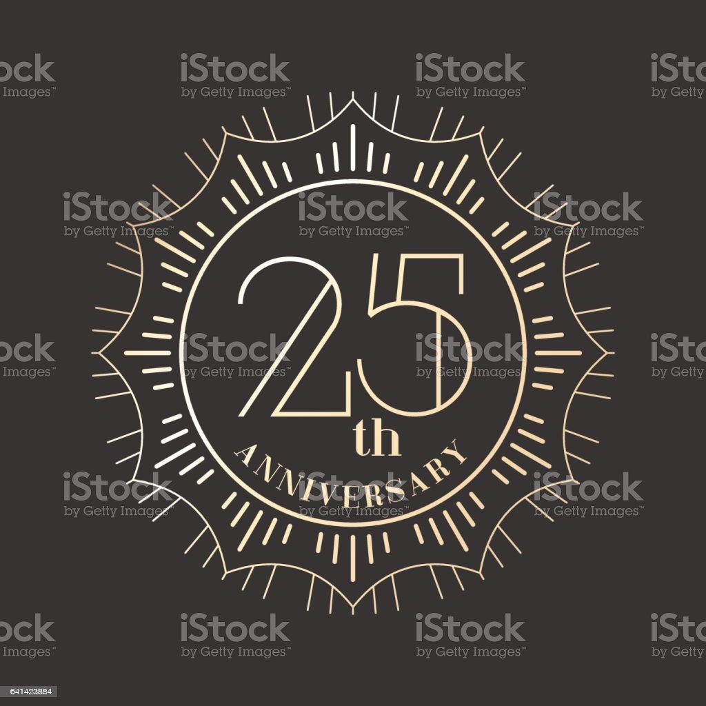 25 Jahre Jubiläum Vektor Icon, logo – Vektorgrafik