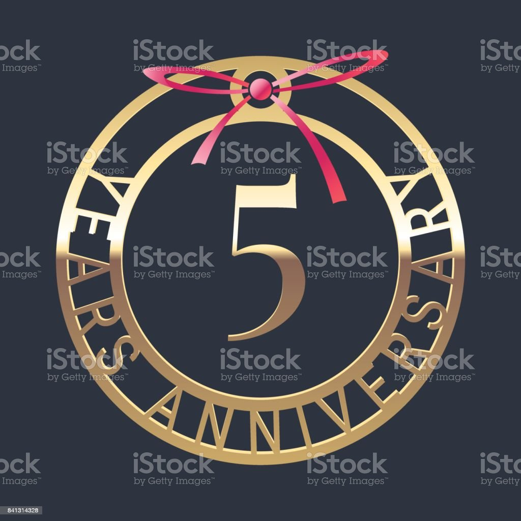5 Years Anniversary Vector Icon Symbol Stock Vector Art More