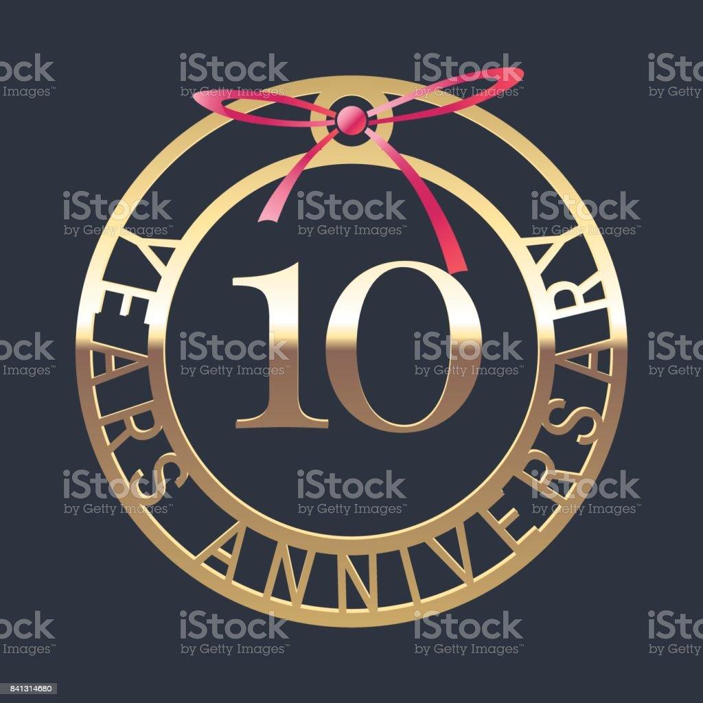 10 years anniversary vector icon, symbol vector art illustration
