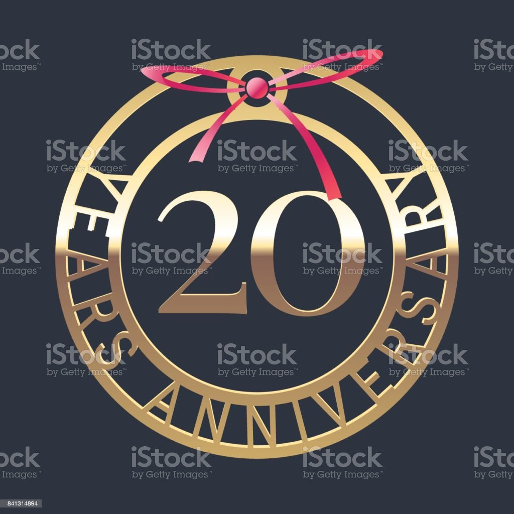20 Years Anniversary Vector Icon Symbol Stock Vector Art More