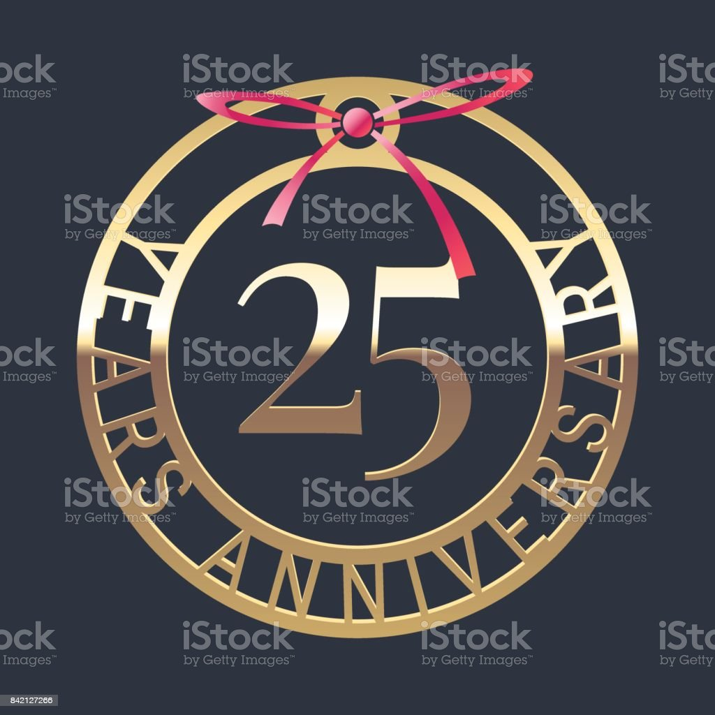 25 Jahre Jubiläum Vektor Icon, symbol – Vektorgrafik