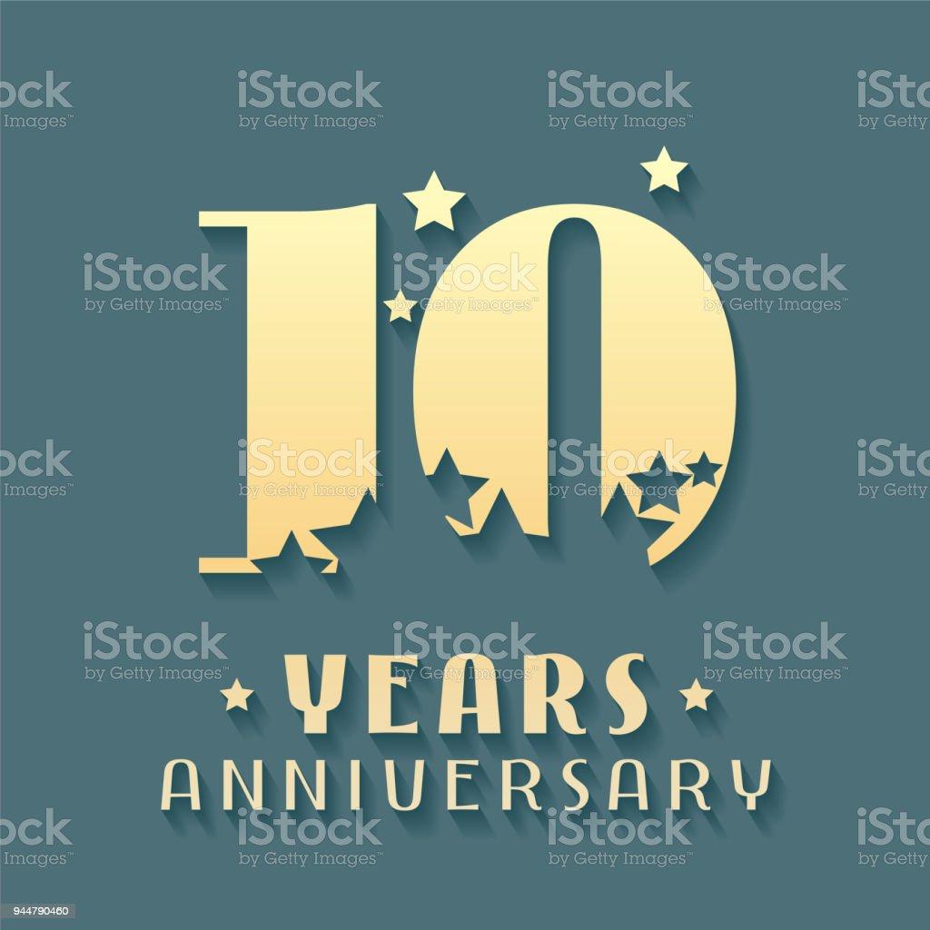10 Years Anniversary Vector Icon Symbol Stock Vector Art More