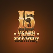 15 years anniversary vector icon