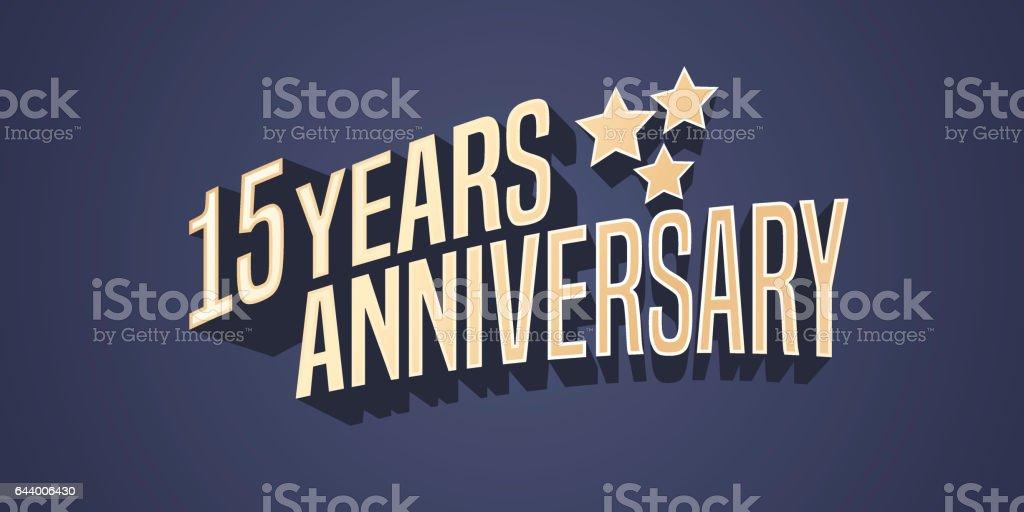 15 Years Anniversary Vector Icon Stock Vector Art 644006430 Istock