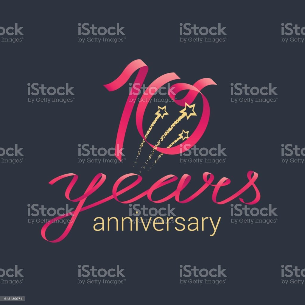 10 years anniversary vector icon vector art illustration