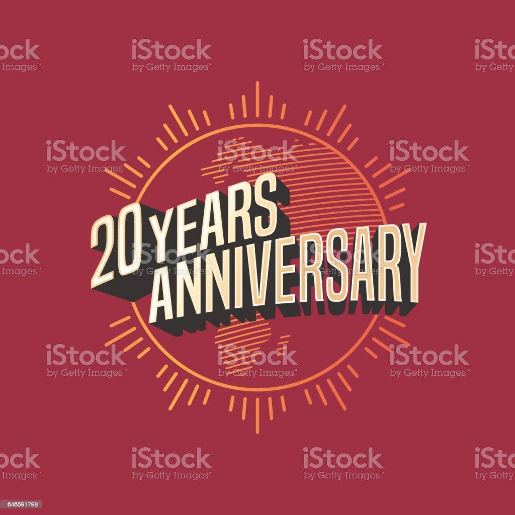 20 years anniversary vector icon vector art illustration