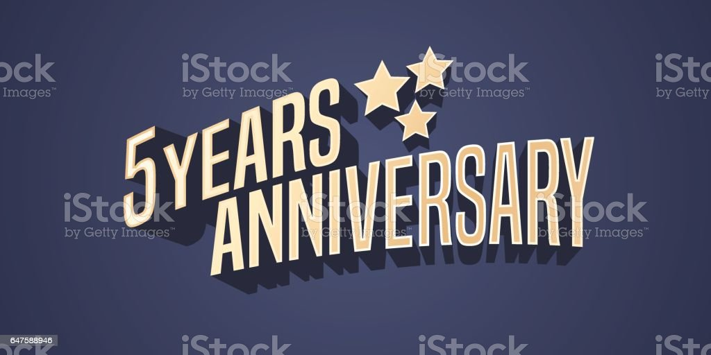 5 years anniversary vector icon vector art illustration