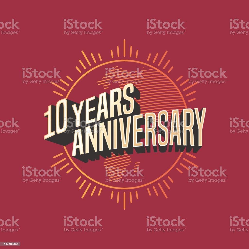 10 years anniversary vector icon vector art illustration