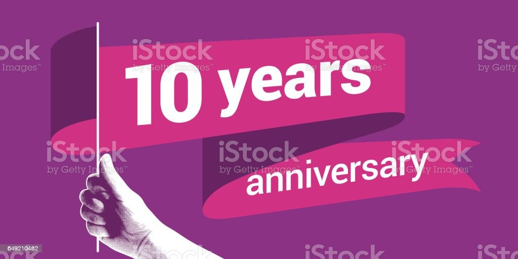 10 years anniversary vector icon royalty-free 10 years anniversary vector icon stock illustration - download image now