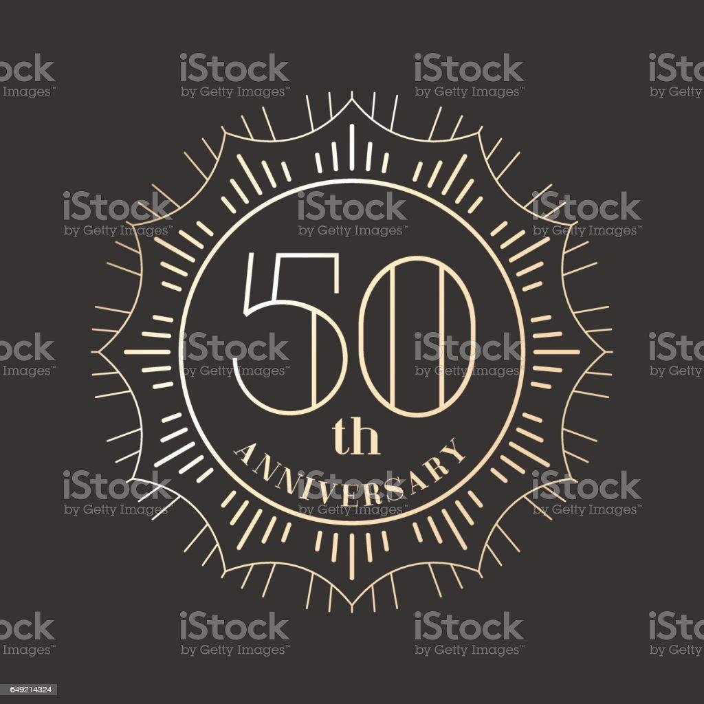 50 years anniversary vector icon vector art illustration