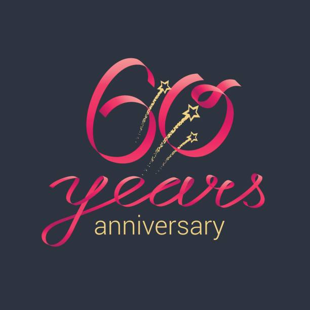 60 years anniversary vector icon vector art illustration