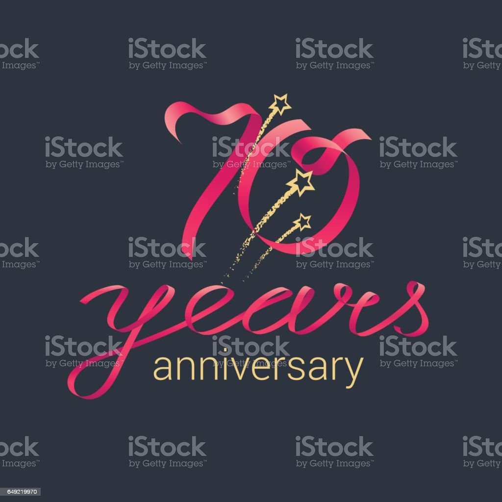 70 years anniversary vector icon vector art illustration