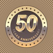 50 years anniversary vector icon