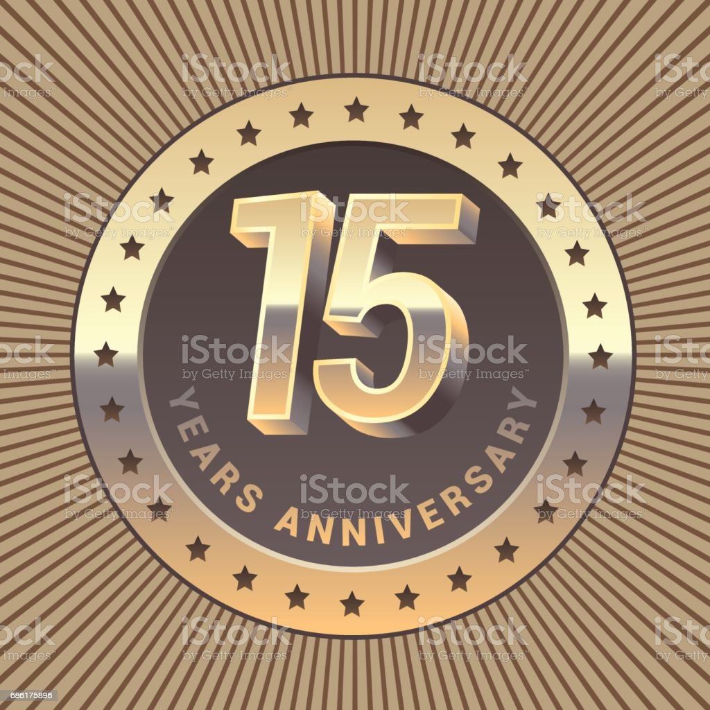 15 Years Anniversary Vector Icon Stock Vector Art More Images Of