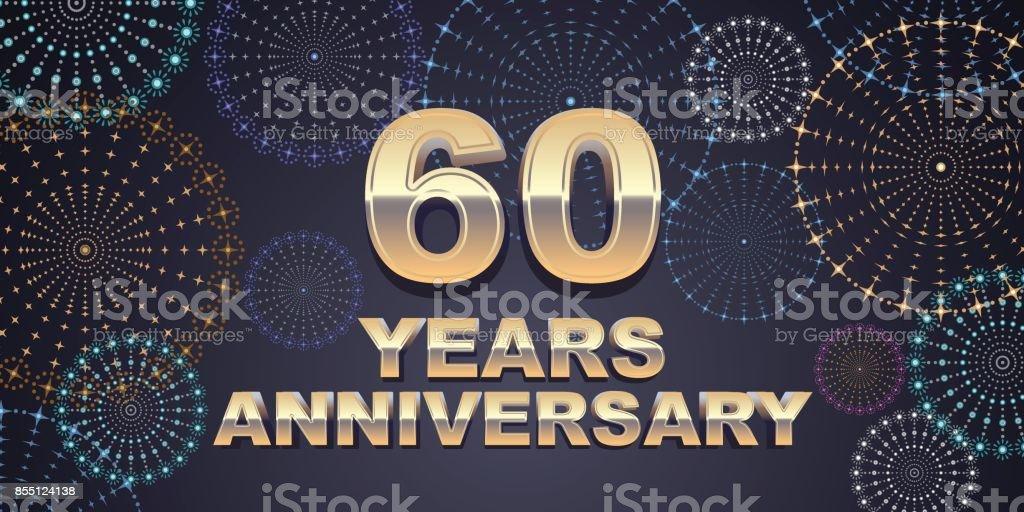 60 years anniversary vector icon vector art illustration