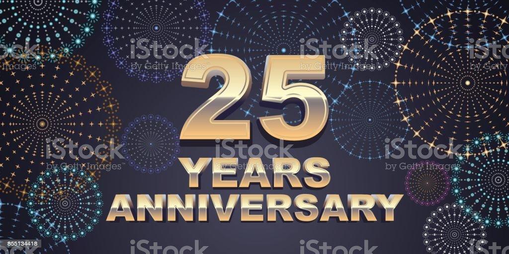 25 Jahre Jubiläum Vektor-Symbol – Vektorgrafik