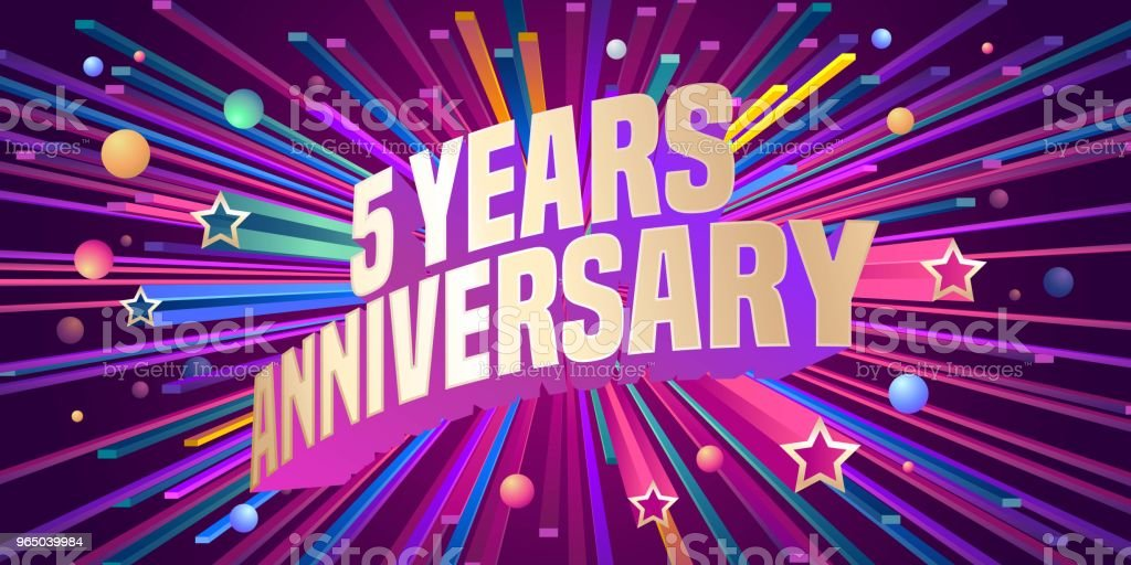 5 years anniversary vector icon royalty-free 5 years anniversary vector icon stock illustration - download image now