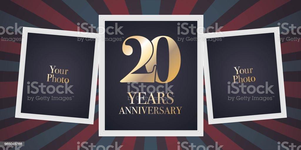 20 years anniversary vector icon 20 years anniversary vector icon - stockowe grafiki wektorowe i więcej obrazów album na zdjęcia royalty-free