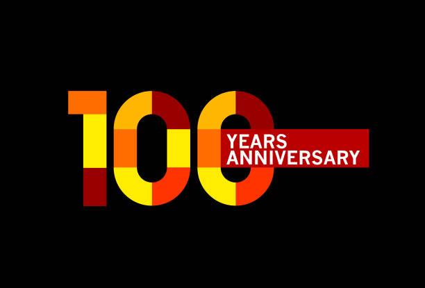 100 Years Anniversary vector art illustration