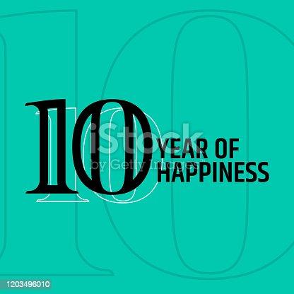istock 10 Years Anniversary 1203496010
