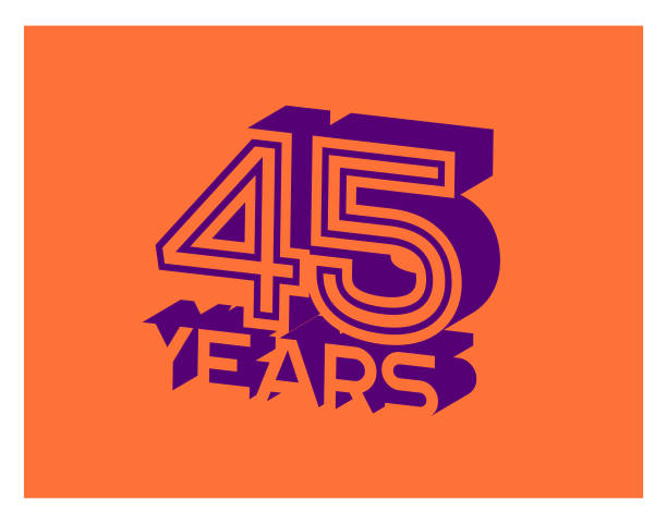 45 Years Anniversary Year anniversary greeting card with the 45th anniversary stock illustrations