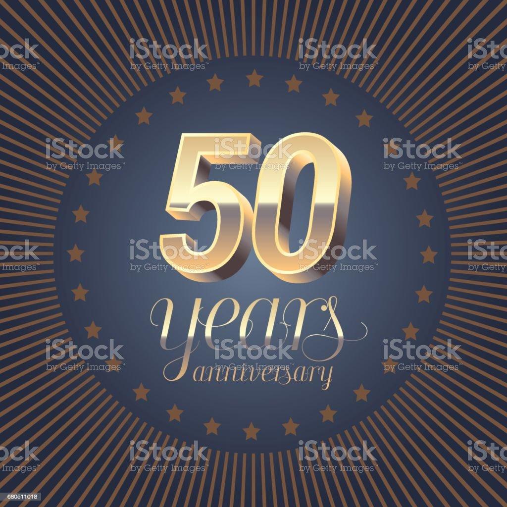 50 years anniversary vector symbol vector art illustration