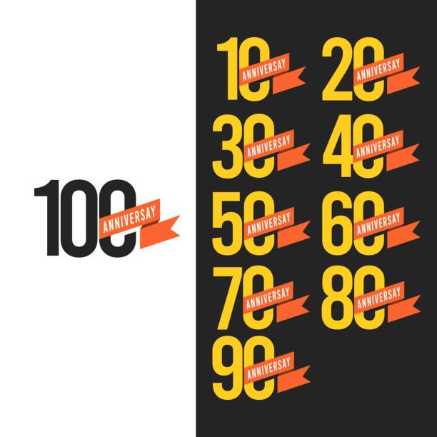 100 Years Anniversary Vector Template Design Illustration 100 Years Anniversary Vector Template Design Illustration anniversary stock illustrations