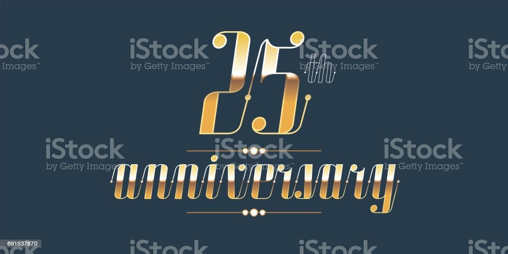 25 Jahre Jubiläum Vektor – Vektorgrafik