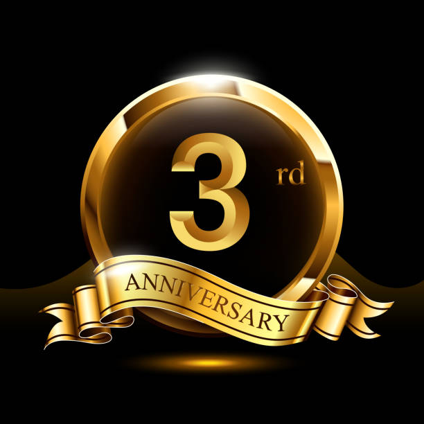 Royalty Free 3rd Wedding Anniversary Clip Art Vector Images