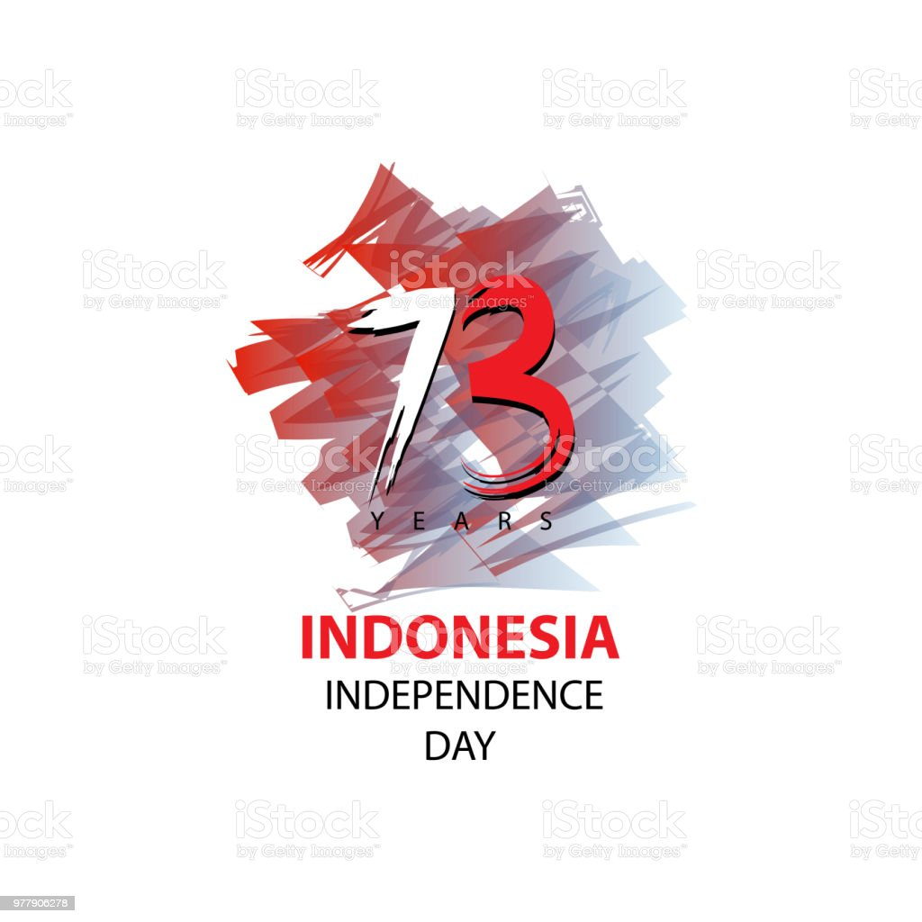 72 Years Indonesian Independence day Concept vector art illustration