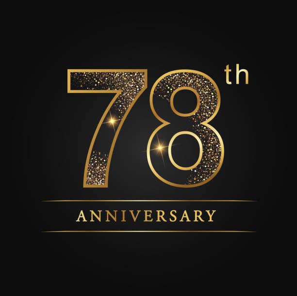 78 years luxury anniversary - oscars stock illustrations, clip art, cartoons, & icons