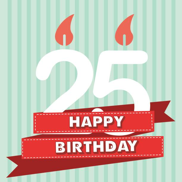 25 Birthday Cake Background Clip Art Vector Images Illustrations Years Old