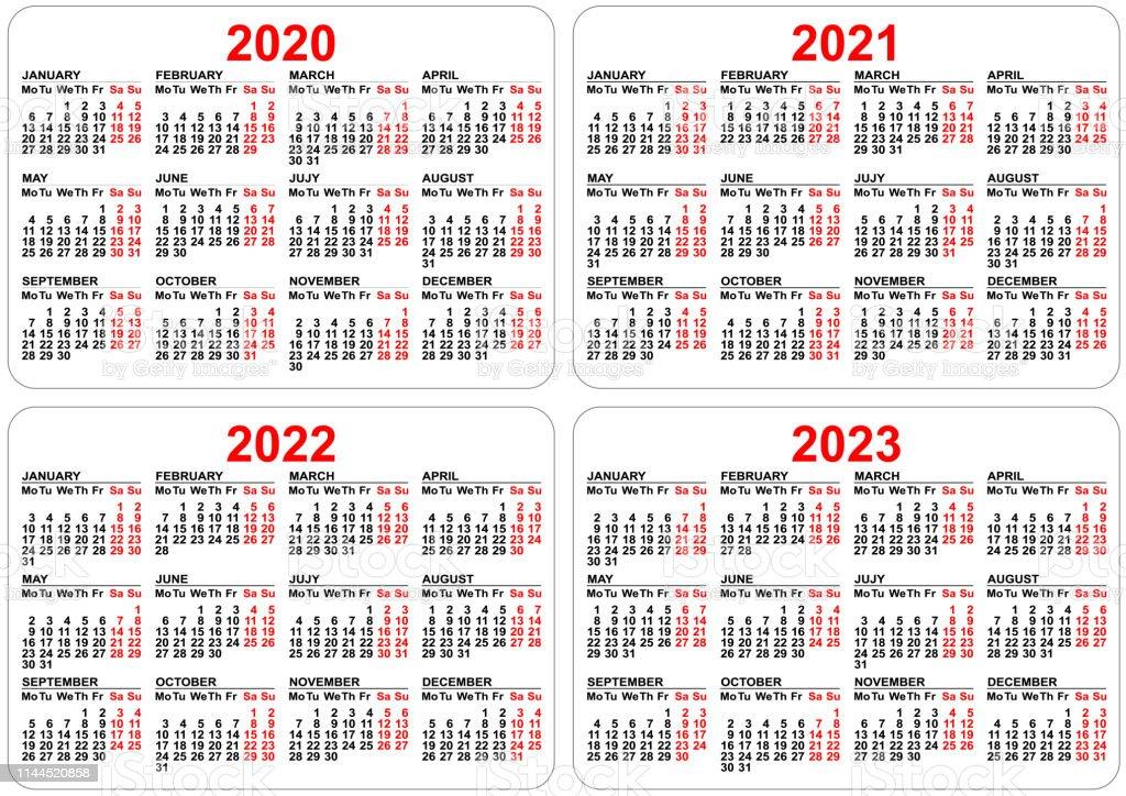 2020 2021 2022 2023 Ans Ensemble Grille Calendrier De Poche
