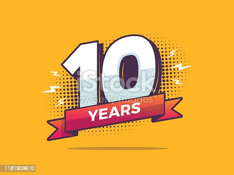 istock 10 Years Sign 1181909610
