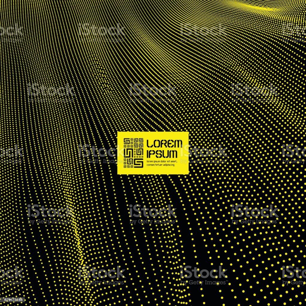 黃色抽象背景。3d. 技術風格。紋理。向量插圖。 免版稅 黃色抽象背景3d 技術風格紋理向量插圖 向量插圖及更多 connect the dots - 英文諺語 圖片