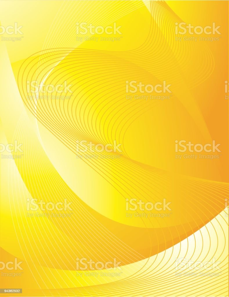 Yellow Abstract Background royalty-free stock vector art