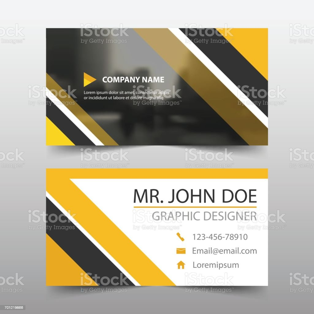Yellow abstract corporate business card name card template yellow abstract corporate business card name card template horizontal simple royalty free yellow abstract corporate reheart Choice Image