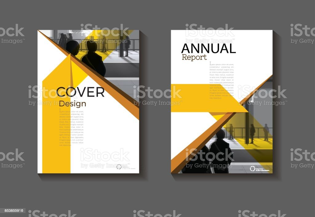 Modern Book Cover Designs : Yellow abstract cover design modern book