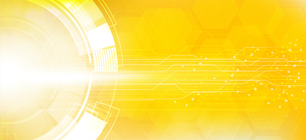 yellow Abstract Technology Circuit Board Background