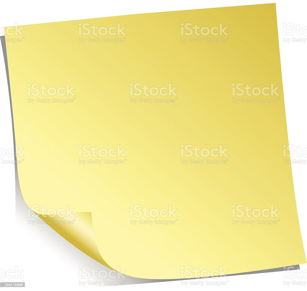 Yellow Adhesive note royalty-free yellow adhesive note stock vector art & more images of adhesive note