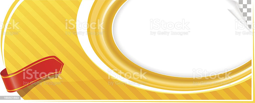 Yellow advertisement template vector art illustration