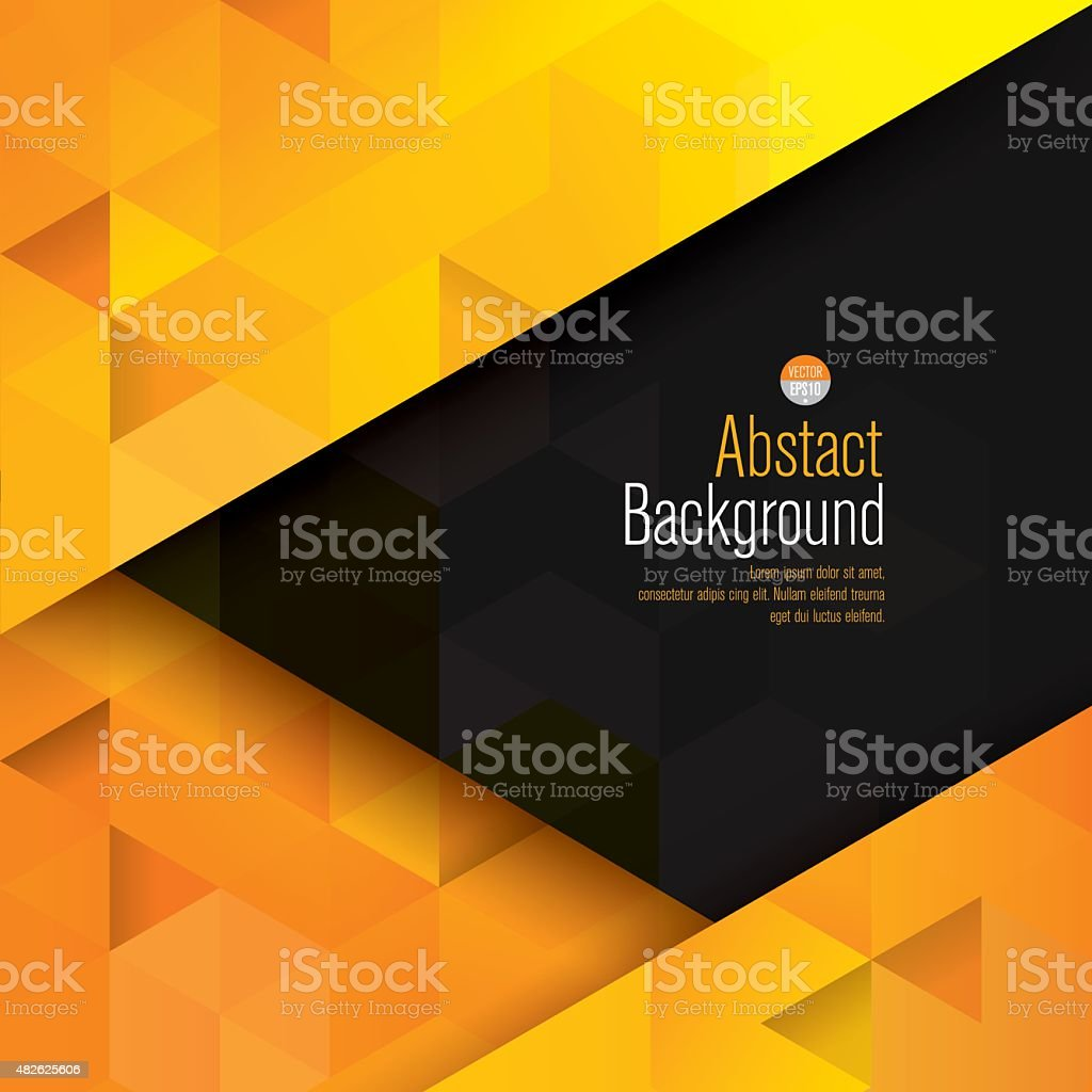 Yellow and black abstract background vector. vector art illustration